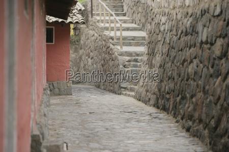 stairway in alley lima peru